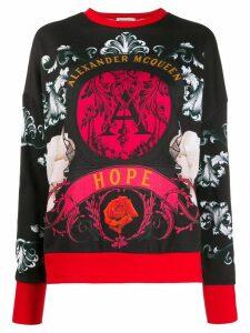 Alexander McQueen floral baroque print sweatshirt - Black