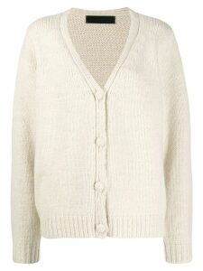 The Elder Statesman relaxed-fit cashmere cardigan - White