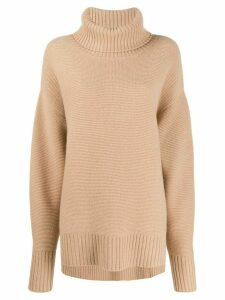 N.Peal oversized roll neck sweater - NEUTRALS