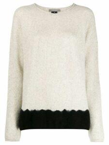 Suzusan two-tone cashmere jumper - Grey
