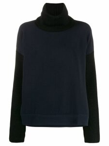 Brag-wette contrast loose-fit jumper - Blue