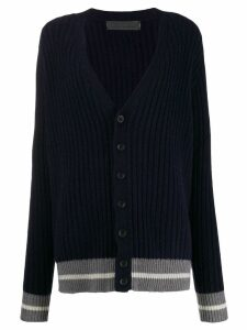 The Elder Statesman ribbed cashmere cardigan - Blue
