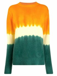 The Elder Statesman tie-dye cashmere jumper - Orange