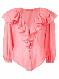 Manning Cartell Balloon Art frilled blouse - PINK