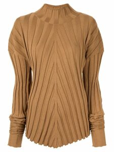 Boyarovskaya mutton sleeve jumper - Brown