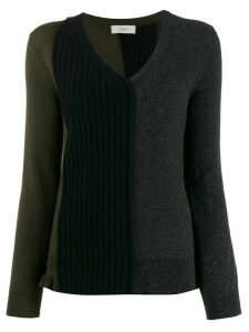 Pringle of Scotland colour-block fitted sweater - Grey