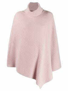 Pringle of Scotland short-length ribbed poncho - PINK