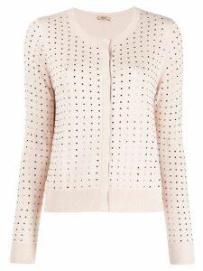 LIU JO studded fitted cardigan - Pink