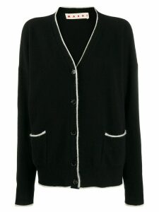 Marni contrasting trimming cardigan - Black