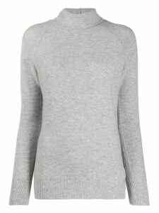 Fabiana Filippi turtle-neck fitted sweater - Grey