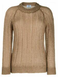 Prada chunky knit jumper - NEUTRALS