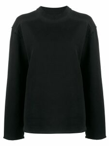Acne Studios elongated faded sweatshirt - Black