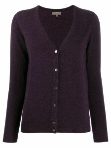 N.Peal V-neck cardigan - PURPLE