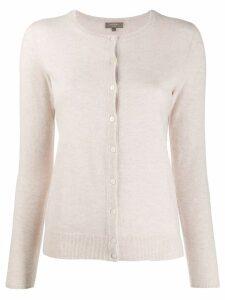 N.Peal round neck cardigan - NEUTRALS