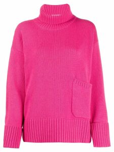 Lamberto Losani patch pocket sweater - PINK