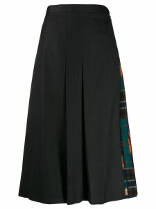 Salvatore Ferragamo pleated midi skirt - Grey