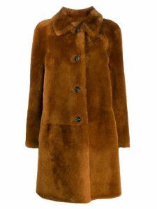 Desa 1972 button down coat - Brown