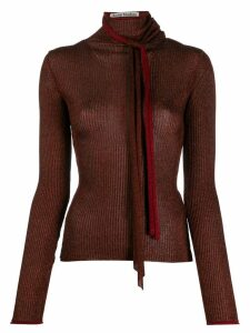 Acne Studios metallic knitted top - Red