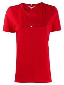 Tommy Hilfiger printed logo T-shirt - Red