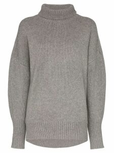 Hyke roll neck knit jumper - Grey