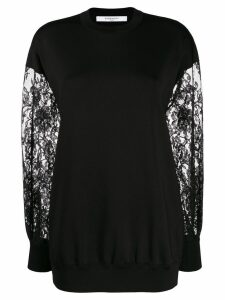 Givenchy lace sleeve sweater - Black