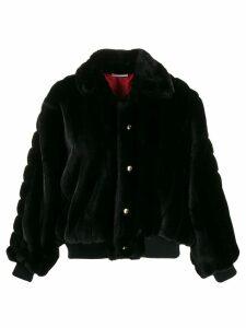 Gcds oversized faux fur jacket - Black