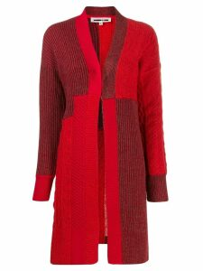 McQ Alexander McQueen patchwork knit cardigan - Red