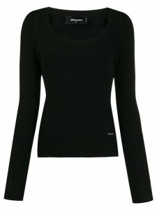 Dsquared2 scoop neck top - Black