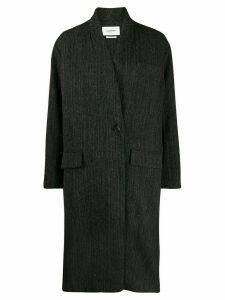 Isabel Marant Étoile zigzag pattern coat - Black