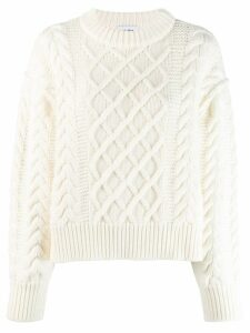 Each X Other cropped cable knit jumper - White