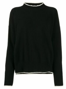 Marni contrast-trim sweater - Black
