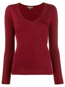 N.Peal V-neck sweater - Red