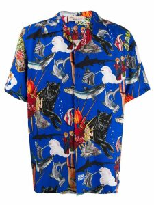 Esteban Cortazar Popular de Lujo printed shirt - Blue