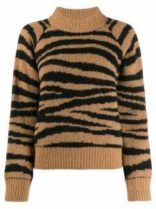 A.P.C. zebra print jumper - NEUTRALS