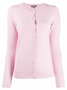 N.Peal round neck cardigan - PINK