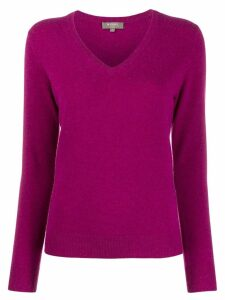 N.Peal V-neck sweater - PURPLE