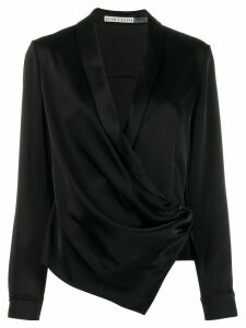 Alice+Olivia v-neck wrap front blouse - Black