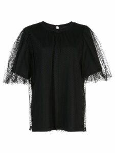 Marc Jacobs mesh layered T-shirt - Black