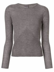 Lorena Antoniazzi boat neck sweatshirt - Grey