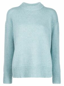 Masscob ribbed neck sweater - Blue