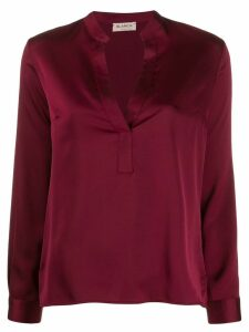 Blanca Vita split neck blouse - Red
