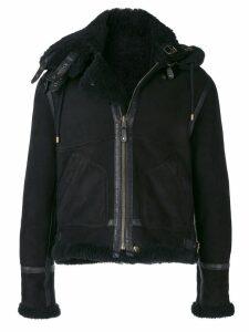 Faith Connexion zipped shearling jacket - Black