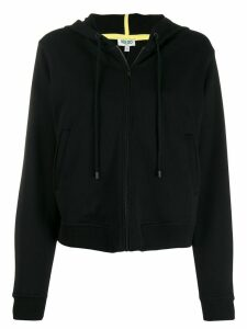 Kenzo Tiger embroidered zip front hoodie - Black