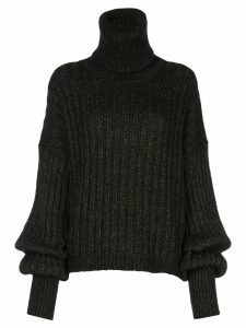 Uma Wang metallic roll neck jumper - Brown