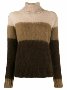 Golden Goose striped rollneck knit sweater - Brown