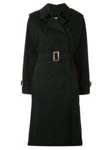 Tu es mon TRÉSOR double-breasted trench coat - Black