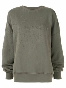 Amiri logo print distressed sweatshirt - Green