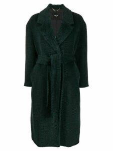 Paltò belted wool coat - Green