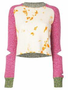 Zoe Jordan cropped tie-dye sweater - PINK