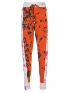 Zoe Jordan tie-dye track trousers - ORANGE